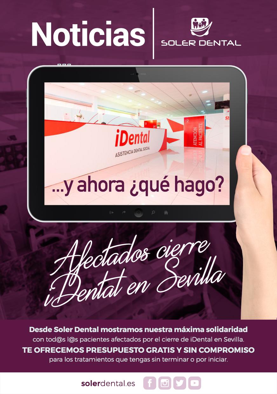 Afectados cierre iDental en Sevilla