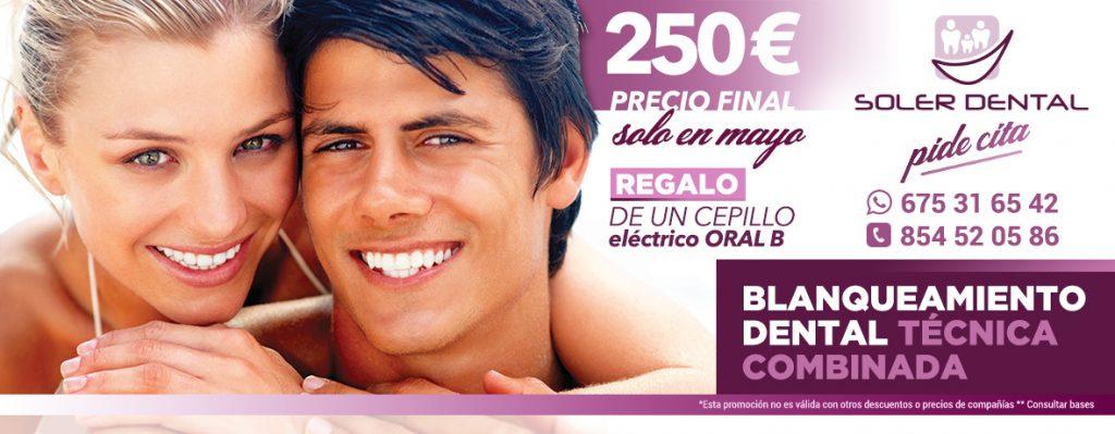 Promoción mayo Blanqueamiento Dental
