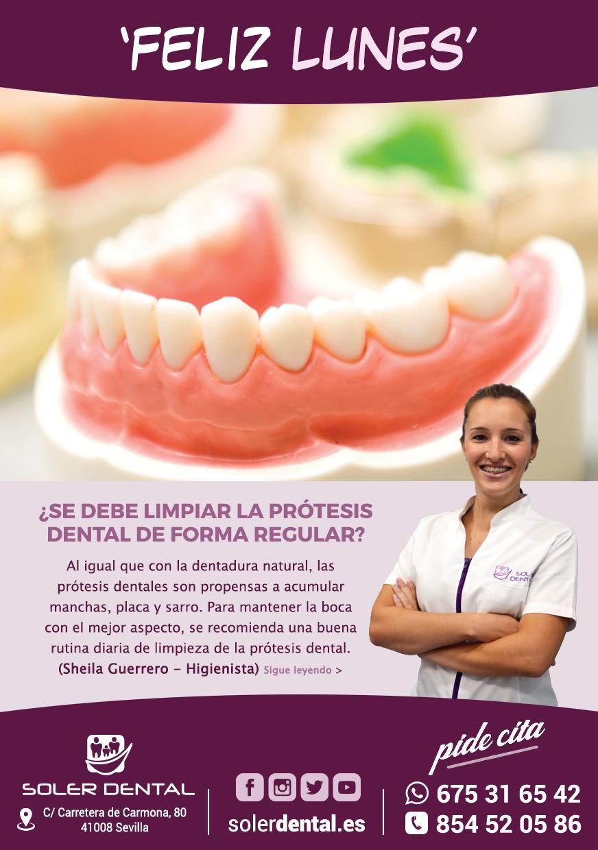 Limpieza de la prótesis dental