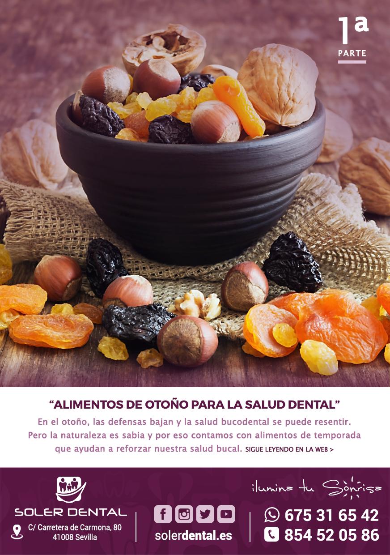 Alimentos de otoño para la salud dental (Primera parte)