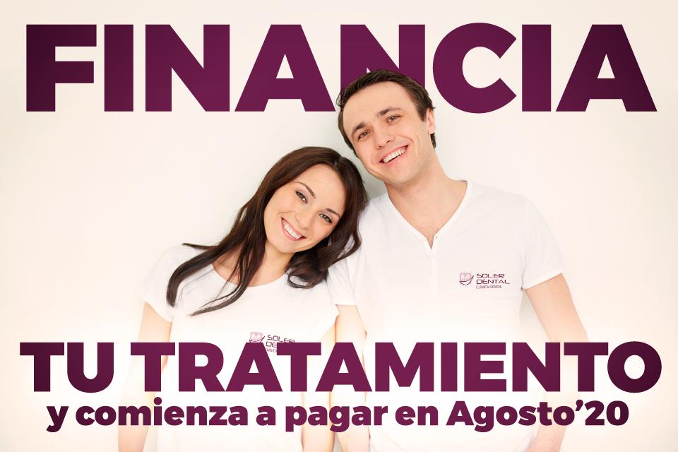 Financia tu tratamiento y comienza a pagar en Agosto